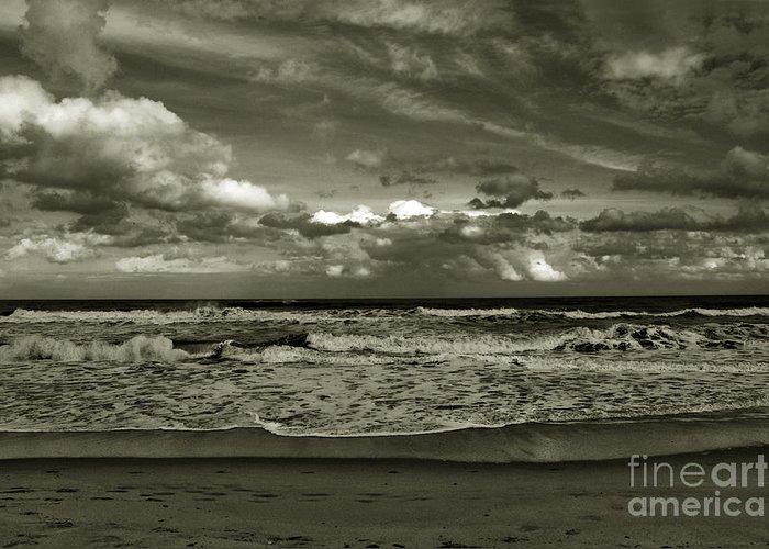 Ocean Greeting Card featuring the photograph For Ever And Ever by Susanne Van Hulst