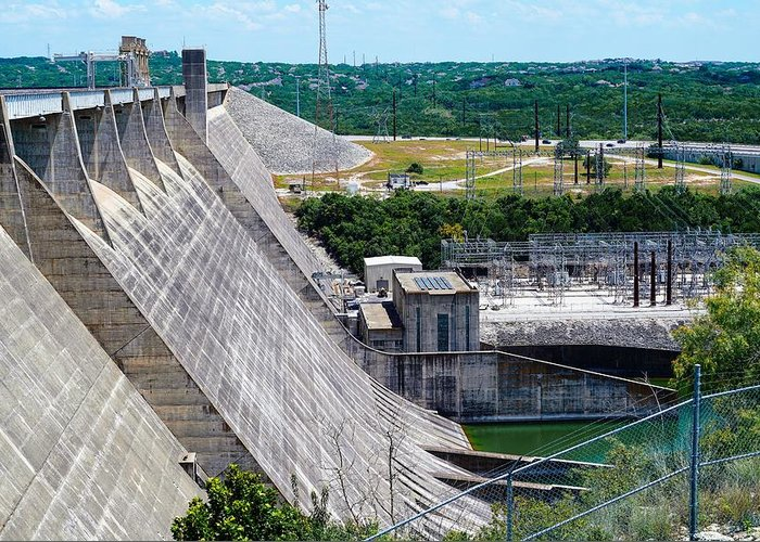 Dam Greeting Card featuring the photograph For The Surrounding Area by Ric Schafer