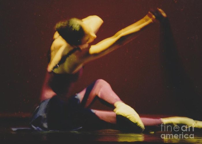 Dancer Greeting Card featuring the photograph For Thee by Mia Alexander