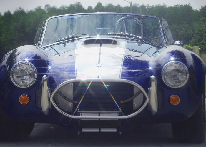Speed Greeting Card featuring the photograph Ford Cobra by Margaret Fortunato