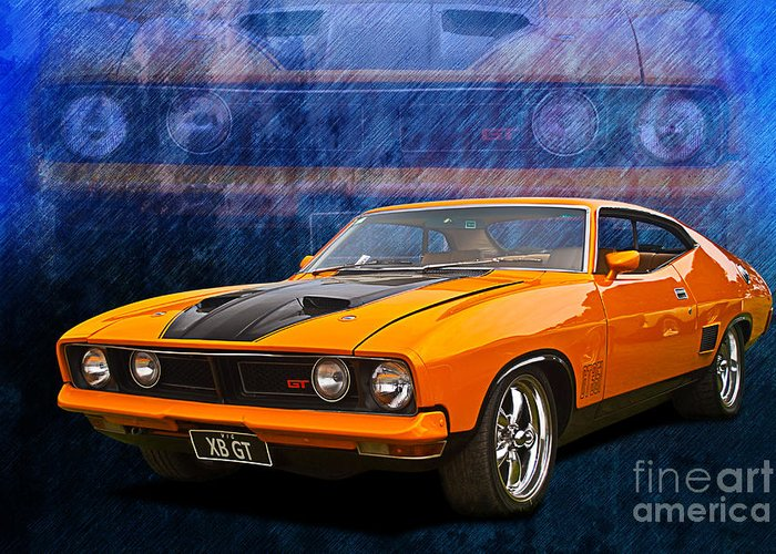 Ford Falcon Xb 351 Gt Coupe Greeting Card For Sale By Stuart Row