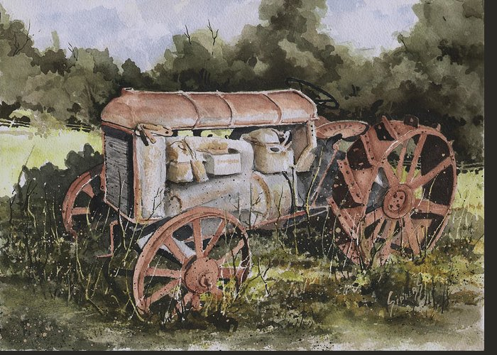 Farm Greeting Card featuring the painting Fordson Model F by Sam Sidders