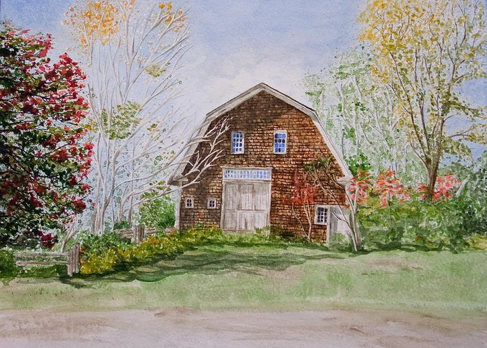 Landscape Greeting Card featuring the painting Forgotten Beauty by Monika Degan