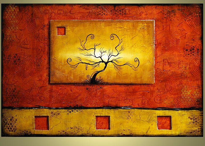 Abstract Greeting Card featuring the painting Forgotten Sold by Jacob Pazera