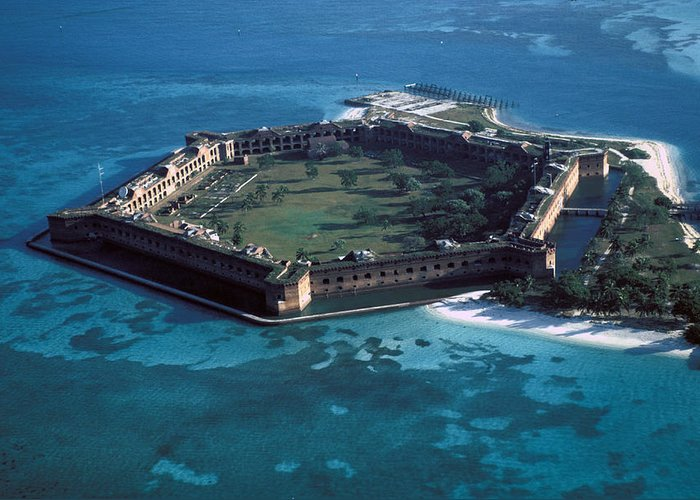 Fort Greeting Card featuring the photograph Fort Jefferson by Carl Purcell