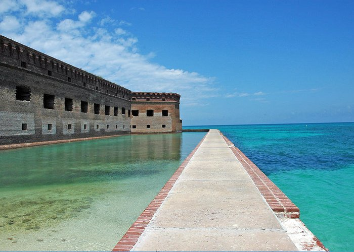 Fort Jefferson Greeting Card featuring the photograph Fort Jefferson Dry Tortugas by Susanne Van Hulst