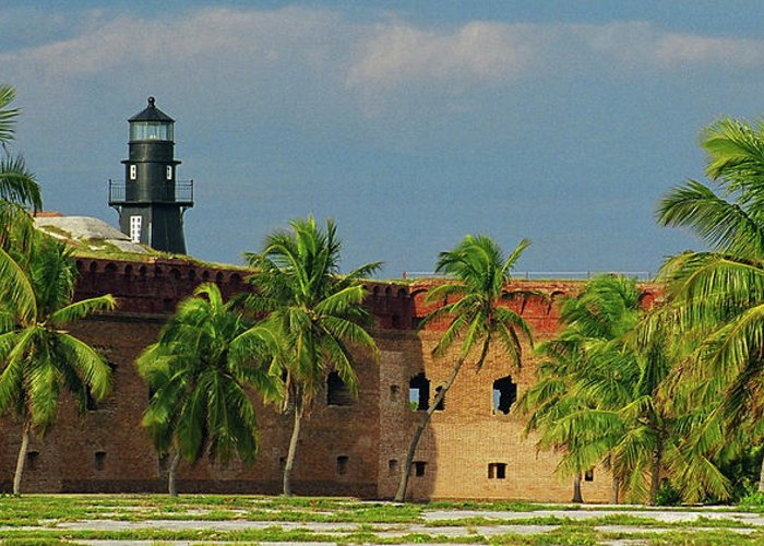 Fort Greeting Card featuring the photograph Fort Jefferson by Henri Irizarri