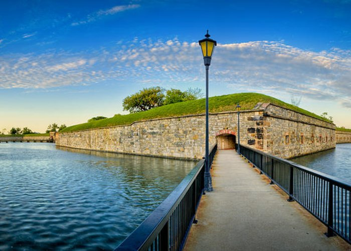 Fort Monroe Greeting Card featuring the photograph Fort Monroe by Williams-Cairns Photography LLC