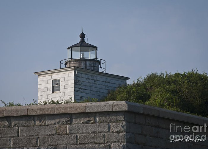 Art Greeting Card featuring the photograph Fort Taber Lighthouse by David Gordon