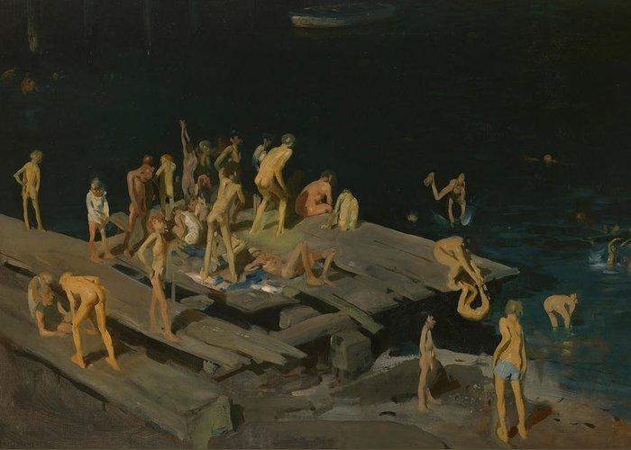Sea Platform Paintings Greeting Cards