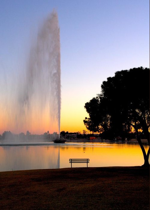 Fountain Hills Greeting Card featuring the photograph Fountain Hills by Paul Kloschinsky