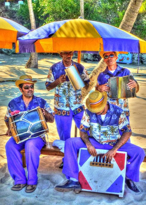 Four Greeting Card featuring the photograph Four Man Band by Michael Garyet