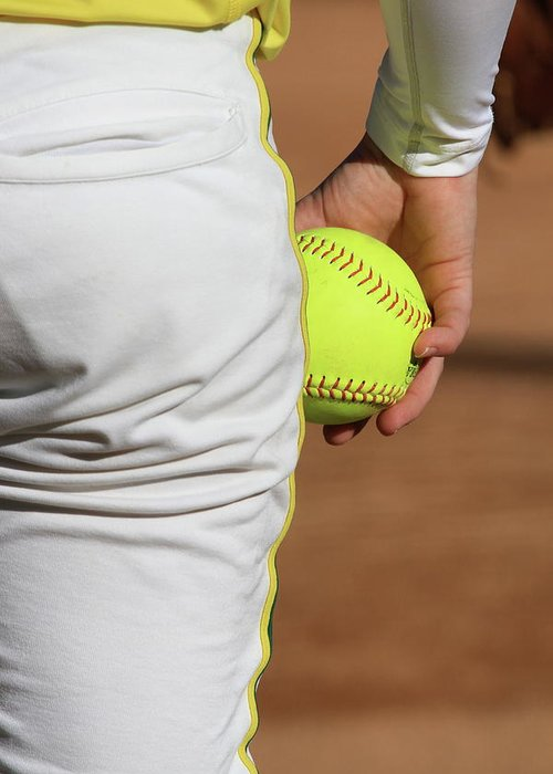 Softball Greeting Card featuring the photograph Four Seam by Laddie Halupa