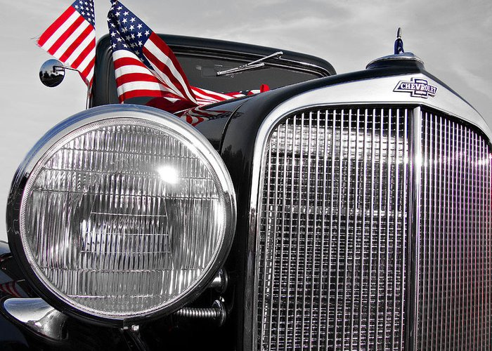 Chevrolet Greeting Card featuring the photograph Fourth Of July-chevvy by Douglas Barnard