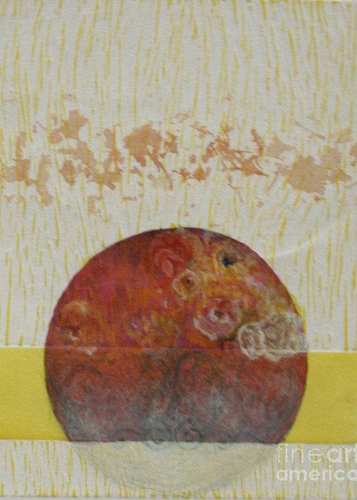 Greeting Card featuring the drawing Fragile Conditioning- 4 by Asma Hashmi