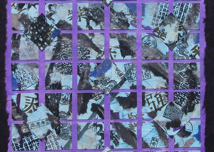 Mixed Media Greeting Card featuring the mixed media Fragmented by Michele Caporaso