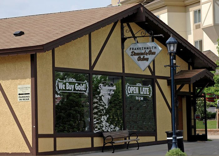 Architecture Greeting Card featuring the photograph Frankenmuth Diamond And Gem Gallery by LeeAnn McLaneGoetz McLaneGoetzStudioLLCcom