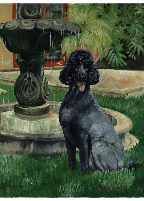 Portrait Greeting Card featuring the painting Frankie by Eileen Hale
