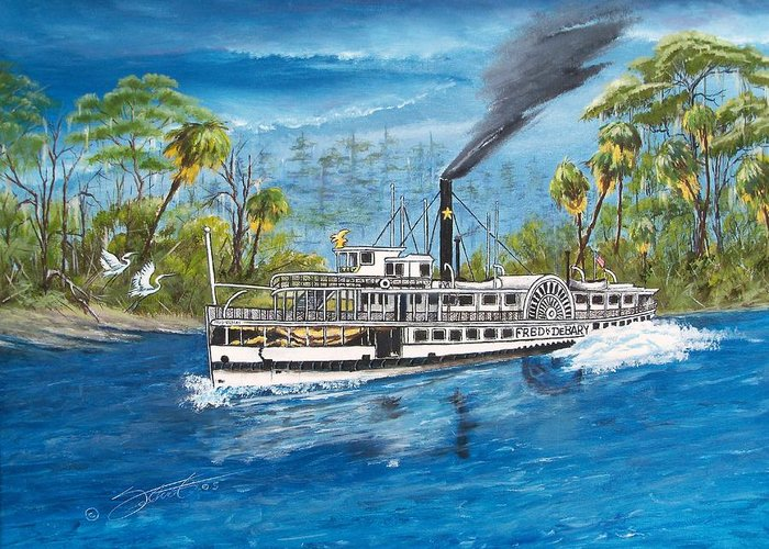 Landscape Greeting Card featuring the painting Fred Debary by Dennis Vebert