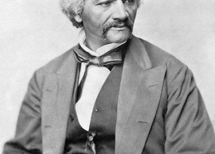 Frederick Douglass Greeting Card featuring the photograph Frederick Douglass by War Is Hell Store
