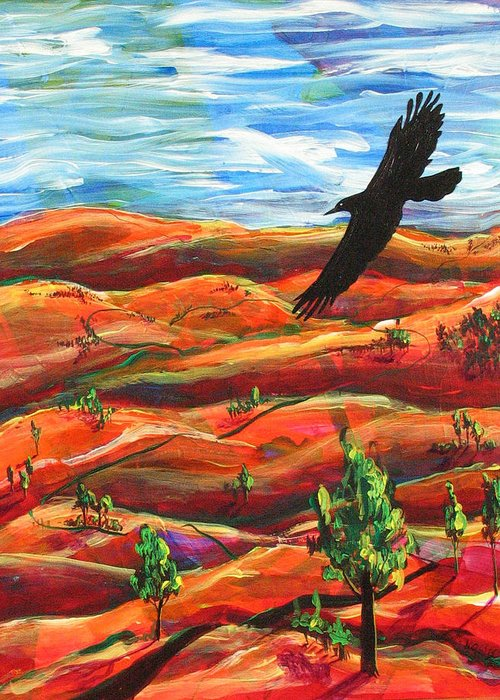 Bird Greeting Card featuring the painting Free As A Bird by Rollin Kocsis
