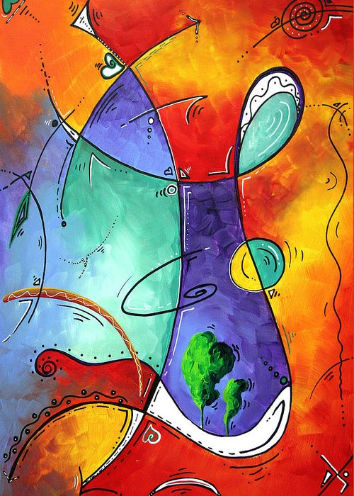 Original Greeting Card featuring the painting Free At Last Original Art By Madart by Megan Duncanson