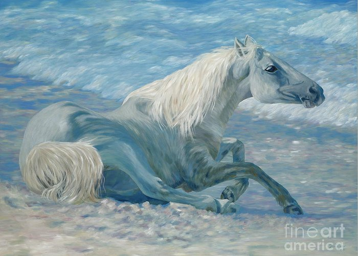 Seascape Greeting Card featuring the painting Free Spirit by Danielle Perry
