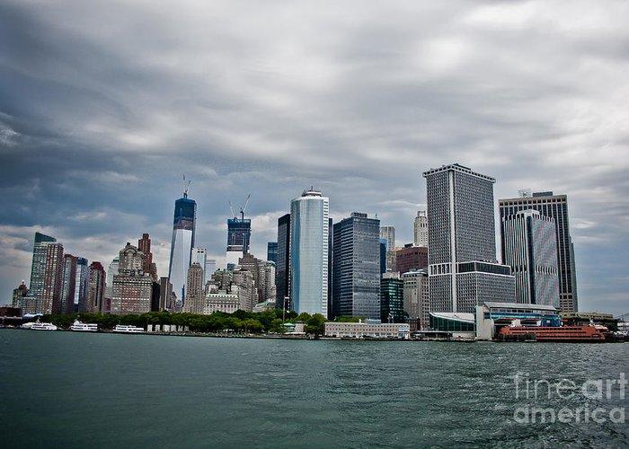 Manhattan Greeting Card featuring the photograph Freedom In Manhattan by Ken Marsh