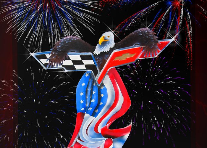 Flag Greeting Card featuring the digital art Freedom by Patricia Stalter