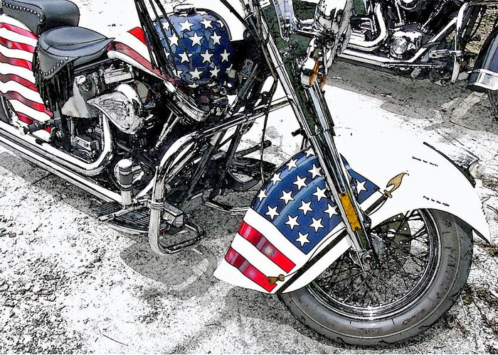 Motorcycle Greeting Card featuring the photograph Freedom Rider by Suzanne Gaff
