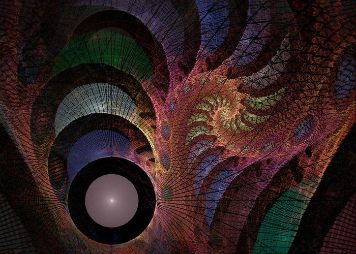 Abstract Greeting Card featuring the digital art Freefall - Fractal Art by NirvanaBlues