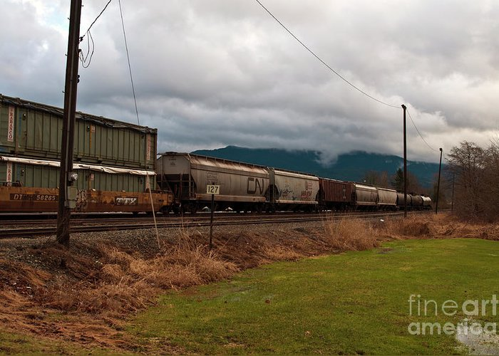 Clay Greeting Card featuring the photograph Freight Rain by Clayton Bruster