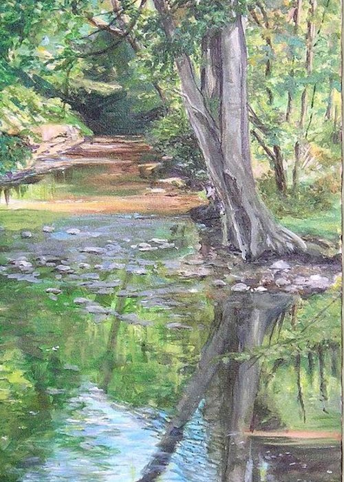 Creek Greeting Card featuring the painting French Creek by Denise Ivey Telep