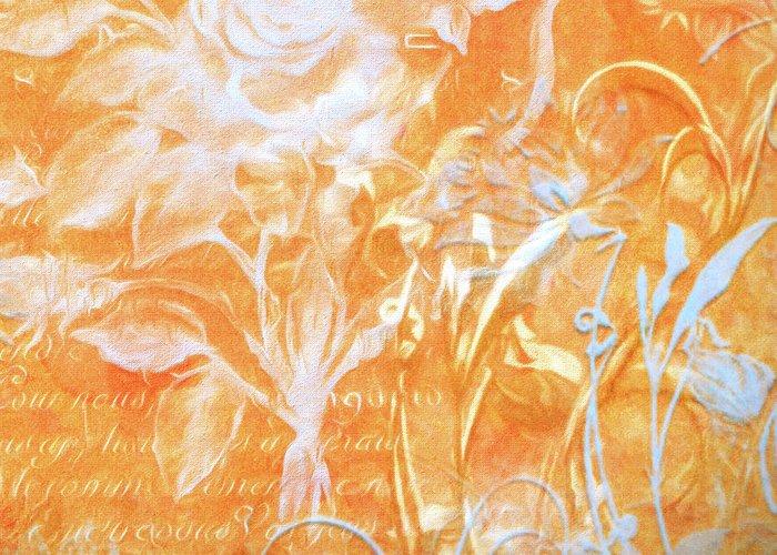 Digital Art Greeting Card featuring the digital art French Floral 2 by Bonnie Bruno