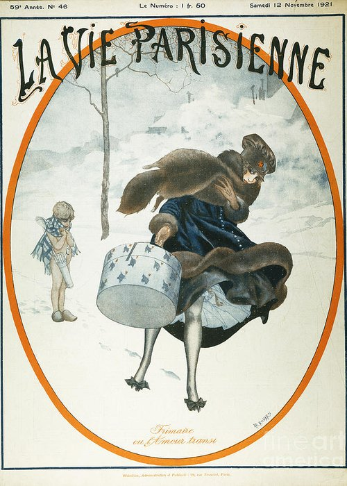 1921 Greeting Card featuring the painting French Magazine Cover by Granger