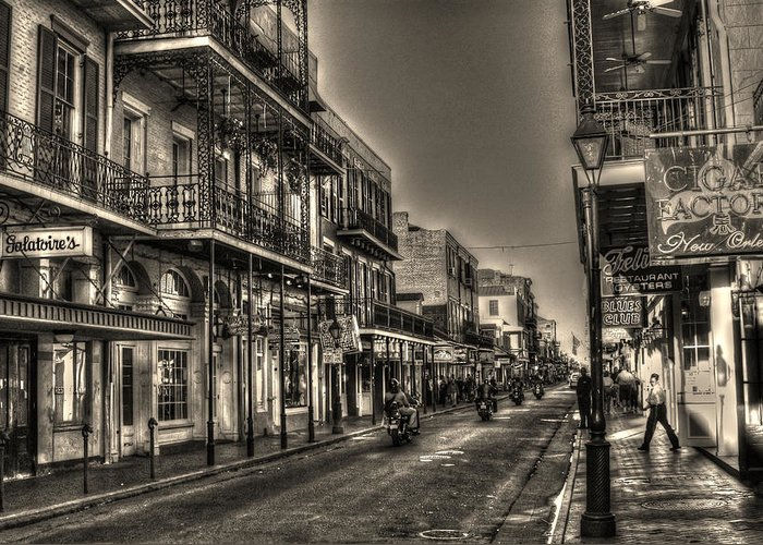 French Quarter Greeting Card featuring the photograph French Quarter Ride by Greg and Chrystal Mimbs