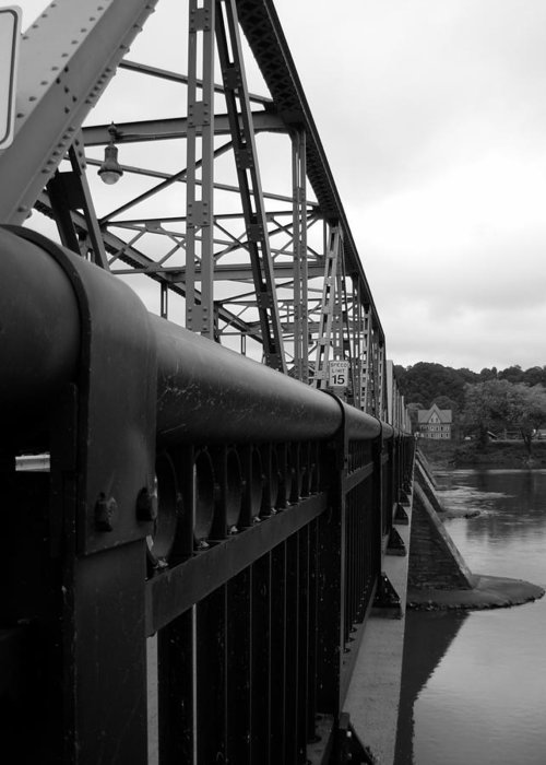 Bridges Greeting Card featuring the photograph Frenchtown Bridge by Amanda Vouglas