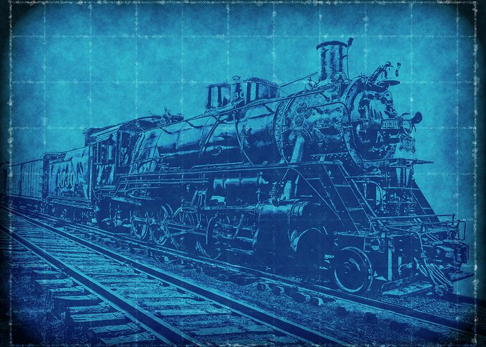 Frisco 1630 steam locomotive blueprint greeting card for sale by railroad greeting card featuring the digital art frisco 1630 steam locomotive blueprint by daniel hagerman malvernweather Gallery