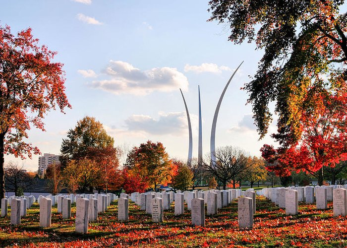 Air Force Greeting Card featuring the photograph From Arlington by JC Findley