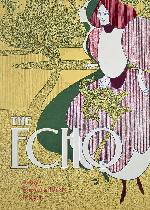 Echo Greeting Card featuring the painting Front Cover Of The Echo by William Bradley