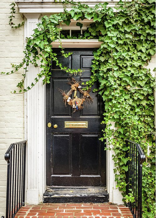 Front Door and Ivy, Alexandria Photograph by Mark Summerfield