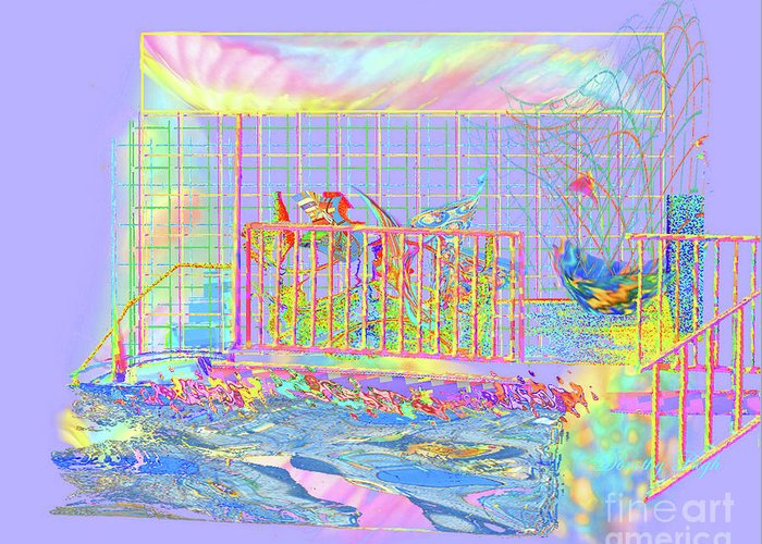Sunrise Greeting Card featuring the digital art Front Porch At Sunrise by Dorothy Pugh