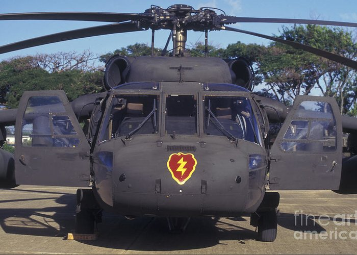 Military Greeting Card featuring the photograph Front View Of An Army Hh-60 Pave Hawk by Michael Wood