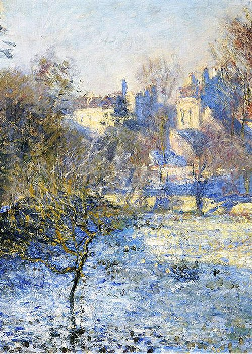 Frost Greeting Card featuring the painting Frost by Claude Monet