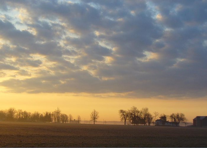 Sunrise Greeting Card featuring the photograph Frosty Spring Sunrise by Peggy King