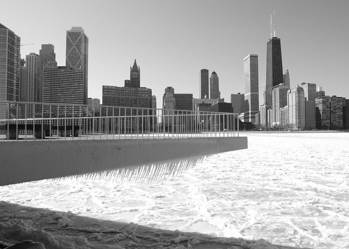 Chicago Greeting Card featuring the photograph Frozen Over by Jacob Stempky