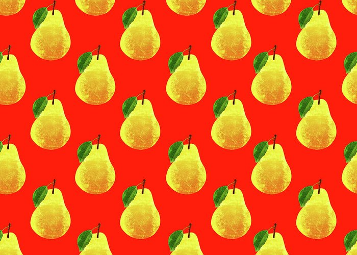 Red Pear Greeting Cards