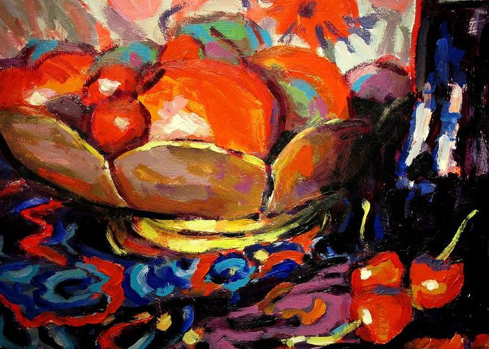 Still Life Paintings Greeting Card featuring the painting Fruit by Brian Simons