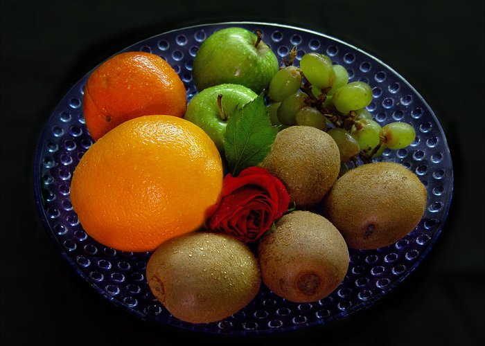 Fruit Dish Greeting Card featuring the photograph Fruit Dish by Peter Piatt
