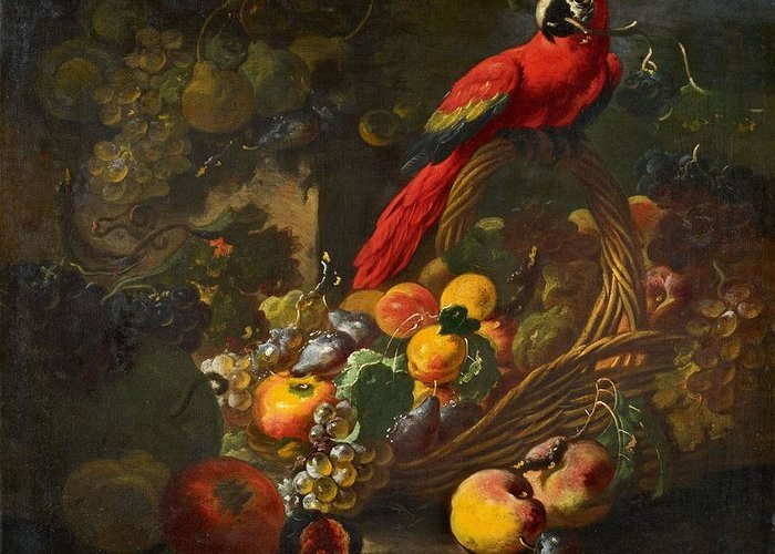 Still-life With A Parrot Greeting Cards